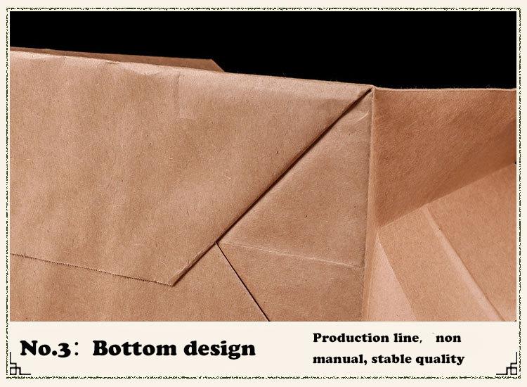 זול סין סיטונאי מחיר מותאם אישית חום קראפט נייר תיק במלאי