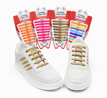 Hot Selling No Tie Shoelaces Elastic Silicone Shoe Laces For Running Jogging Canvas Sneakers