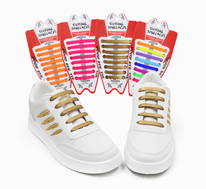 56f9b59cddb7 Hot Selling No Tie Shoelaces Elastic Silicone Shoe Laces For Running  Jogging Canvas Sneakers