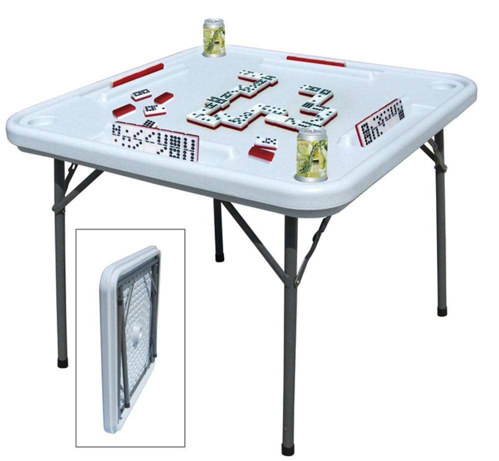 Plastic Domino Table With Folding Metal Legs Buy Domino Table