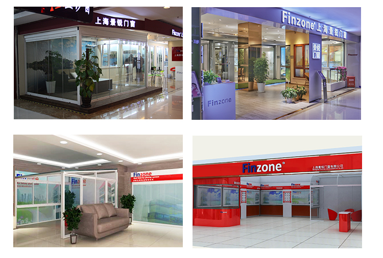 Finzone frameless glass sliding door
