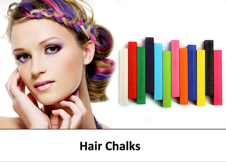 inventory organic round hair color chalk for dyeing hairtemporary hair chalk pencolor chalk for colorful hair dye chalk - Hair Color Pen
