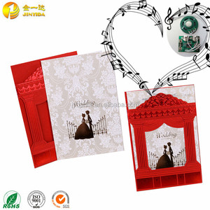 Handmade best wish laser cut favor wedding paper invitation card