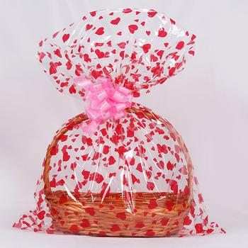 Wholesale Cheap Clear Cellophane Film Gift Basket Bag