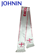 2018 Factory Supply Satin Football Fan Scarf England Flag Scarf Football Game Gift