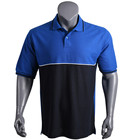 Good quality promotional polo t shirt men with contrast panel, custom polo shirt