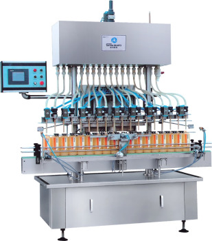 Complete filling production line's with fully-auto cap-loading machine, screw capping machine &labeling machine