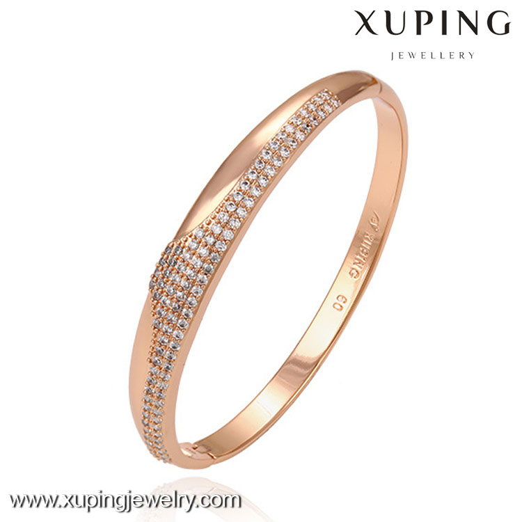 51308 New trendy jewelry rose gold color adjustable bangle base