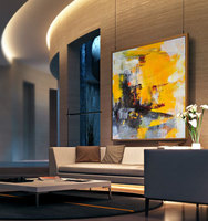 High Quality Handmade House Wall Decor Art Abstract Acrylic Oil Painting Canvas