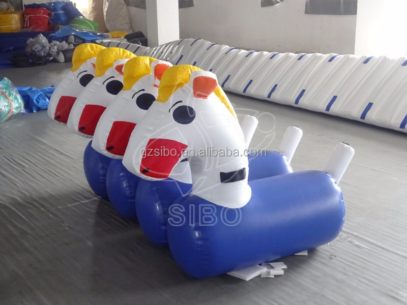 GMIF-6910K out door pvc material Airtight Inflatable Horse Racing for adult