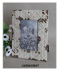 Worn Handmade Rustic French Style Wood Photo Picture Frame