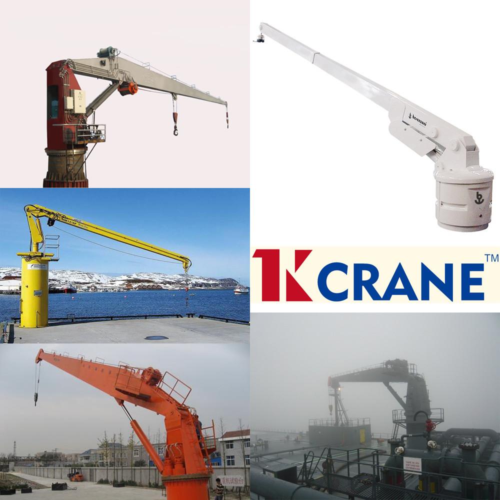 Yacht Hydraulic Crane : Customized knuckle hydraulic boat deck marine ship crane