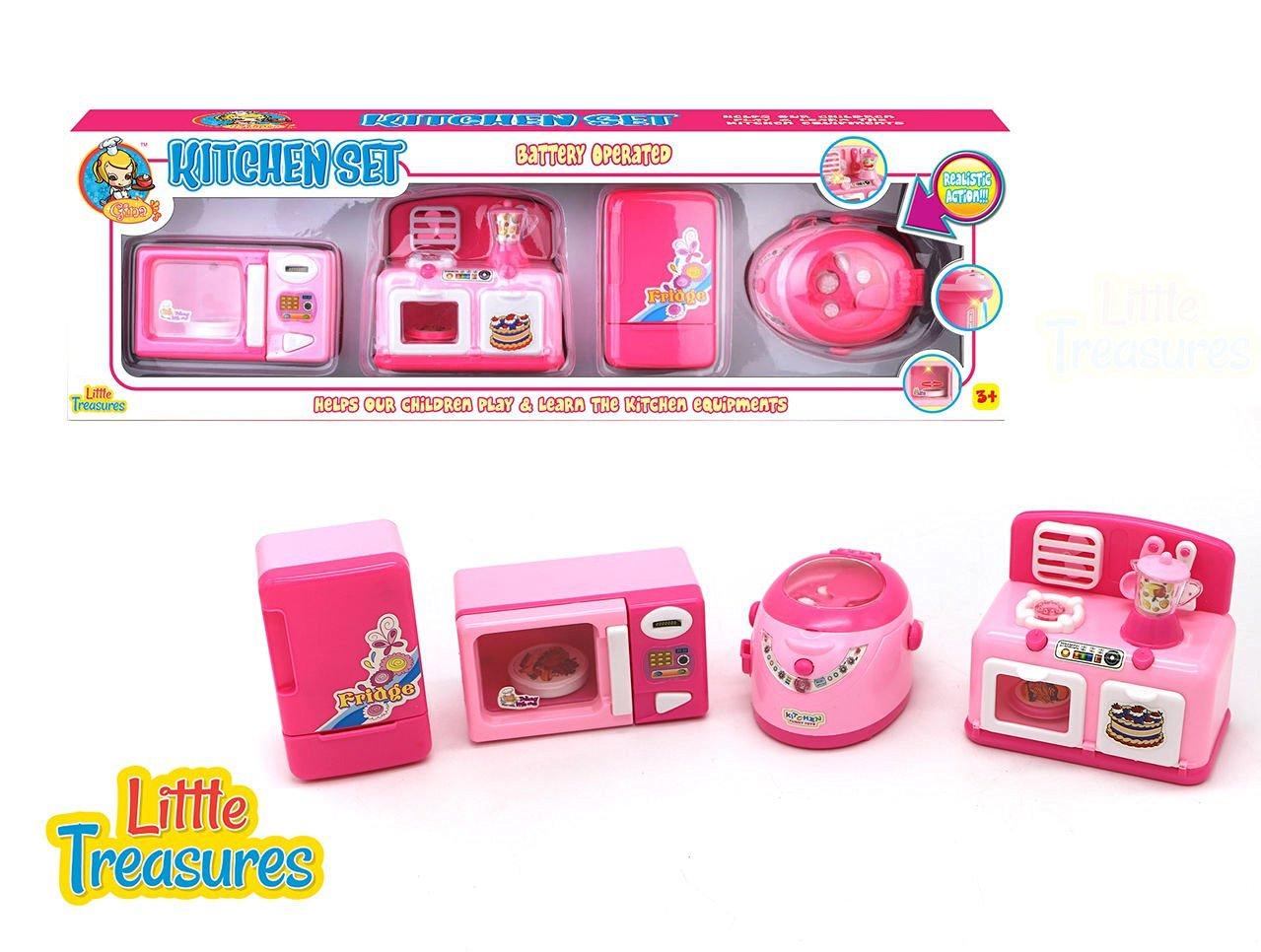 Buy Children Pretend Play Mini Gourmet Kitchen Pink Appliance