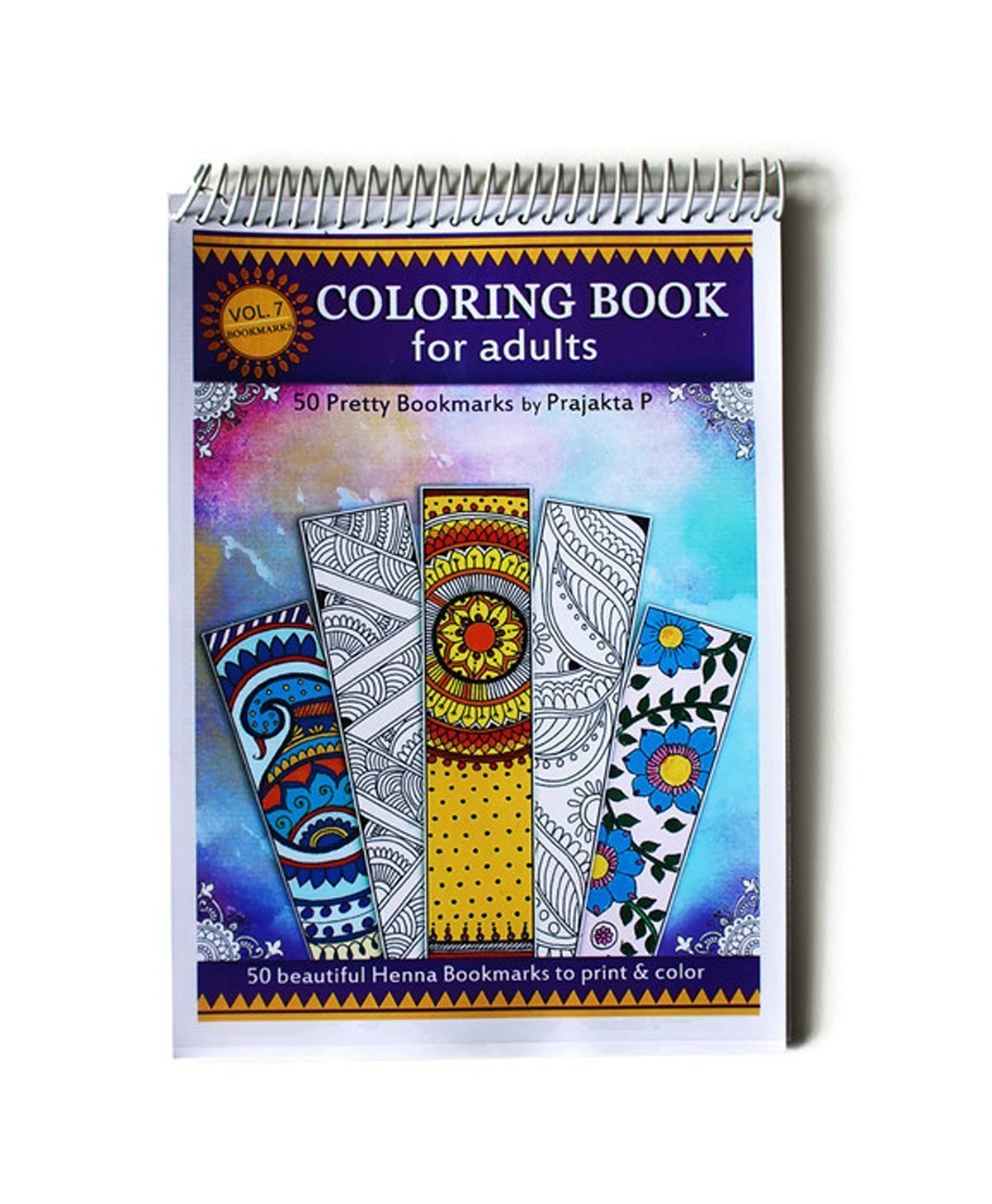 Bookmarks coloring - Adult Coloring book Volume 07, 50 Pretty Bookmarks To Color, DIY Bookmarks