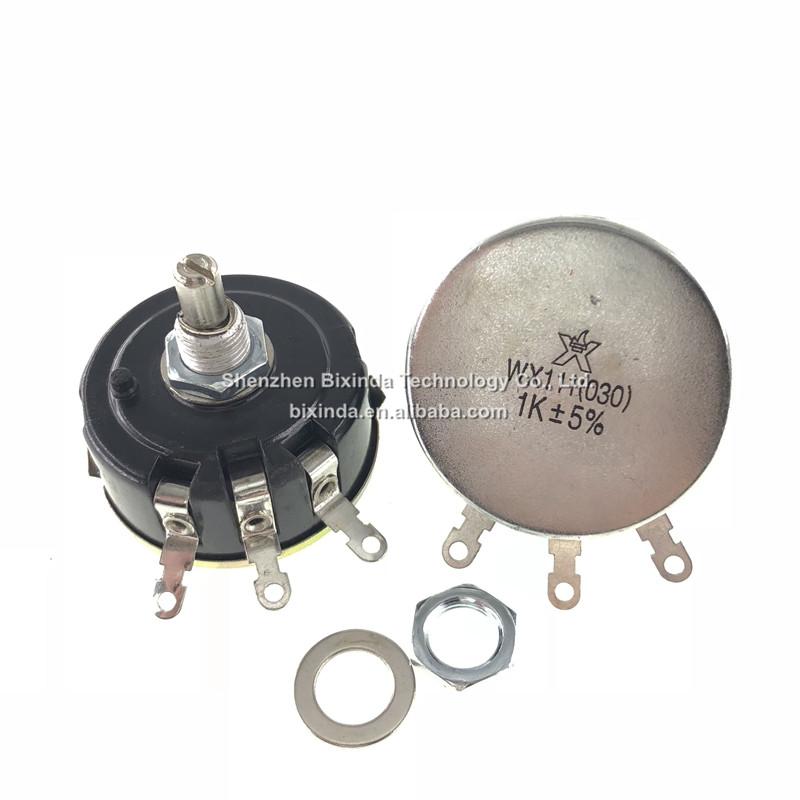 2.2K Ohm 2K2 5W 5/% Single Turn Linear Wirewound Potentiometer Knob WX112 050