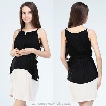 a3c8a46ad MamaLove Modal Casual ropa de maternidad de moda de ropa para mujer embarazada  vestidos de lactancia