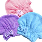 Soft microfiber hair shower cap hair bonnet drying towel hair wrap dryer for home spa beauty facial