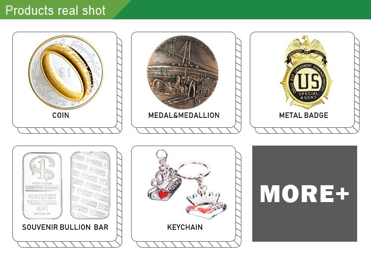 Fabricante EUA Dólar Die Stamping Zero Fode Personalizado Lembrança Moeda de Prata