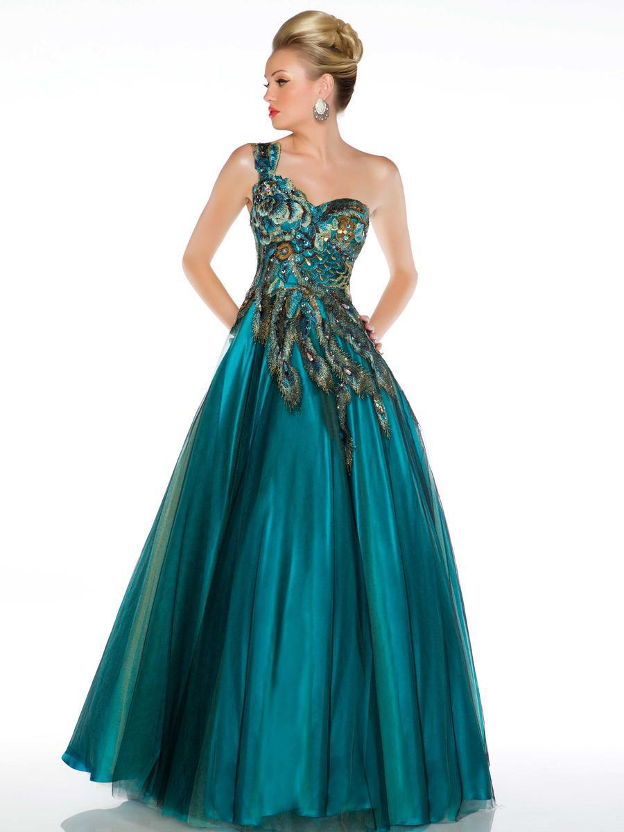 Cheap Emerald Green One Shoulder Prom Dress, find Emerald Green One ...