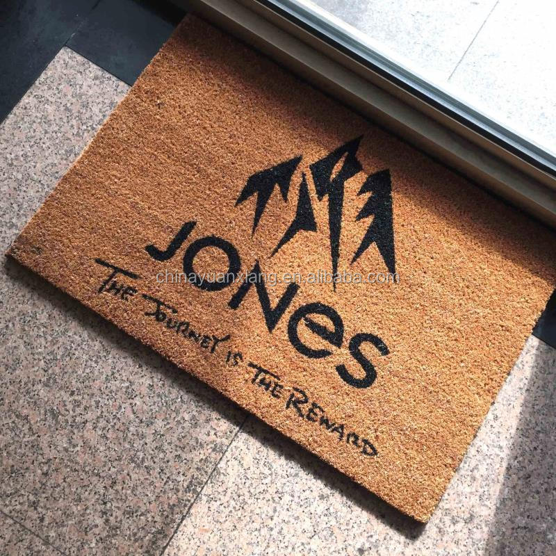 Natural Fiber Coir Logo Door Mats for Promotion