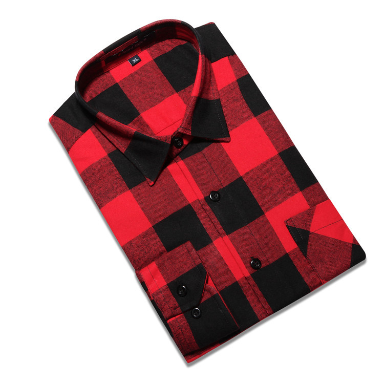 925f853db8c Get Quotations · Plaid Shirts Men Shirt Camisa Social Autumn Luxury Slim  Casual Long Sleeve Chemise Homme Flannel summer