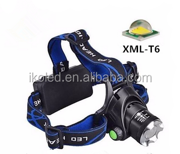 High Power Adjustable Zoom Headlamp 2000lm Xml T6 Led Headlight ...