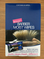 50pcs per box barber moist wipes