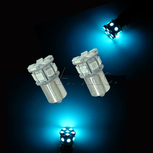 High Beam For Car Auto BA15S BAU15S 1157 BAY15D P21W LED Tail Turn Signal Light Lamp Bulb 5050 1156 Ice Blue 13SMD