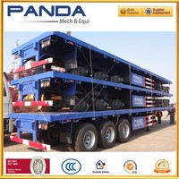 2015 used 40ft flatbed container chassis trailer for sale