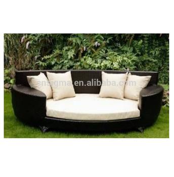 2015 high quality sectional rattan outdoor furniture black rattan corner sofa set garden corner