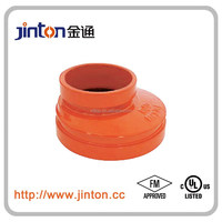 FM UL approved pipe accessories of grooved eccentric reducer