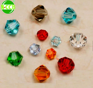 China wholser pujiang factory crystal round faceted glass bead landing