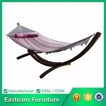 Chair Garden Swing Stand Canva Bed Wooden Swinging Sale Hanging Outdoor  Hammock