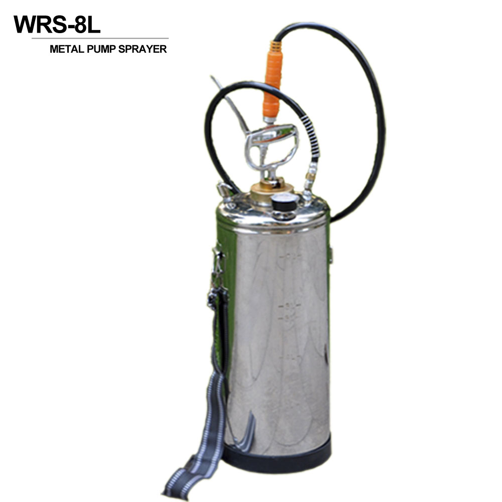 5L stainless steel hot water metal pressure sprayer with viton seal