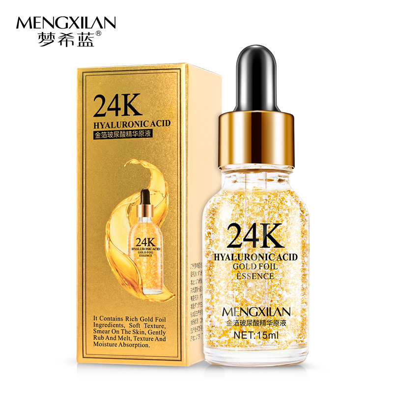 OEM และ ODM 24 k gold hyaluronic acid anti - aging face serum