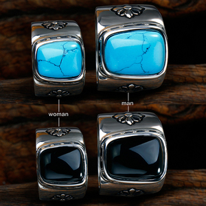 Worth faith Semi-gemstone Turquoise Ring Wholesale Price lover Ring