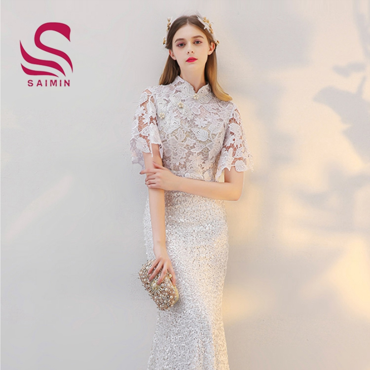 2017 lace high-end vintage dress shop women dresses chinese qipao dress
