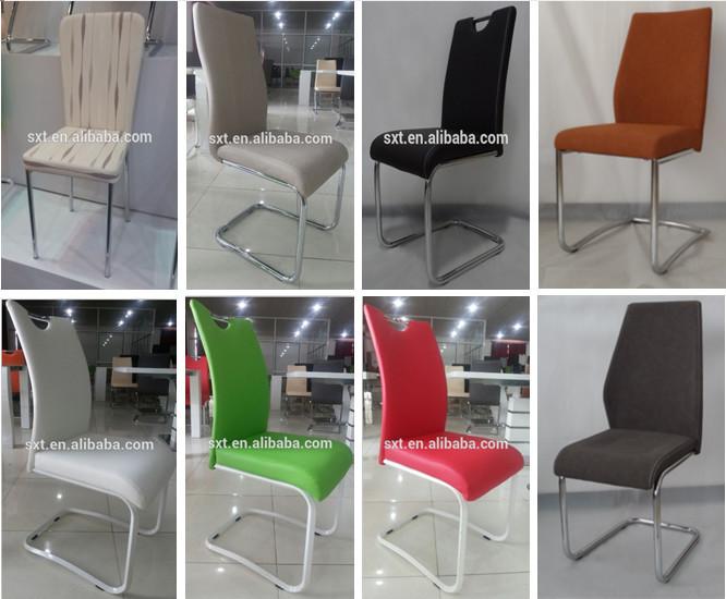 Bazhou Cuero Rojo Silla De Comedor Cromo Diseño Moderno/muebles De Comedor  - Buy Cuero Blanco Silla De Comedor Cromo,Cuero Colorido Sillas Del ...