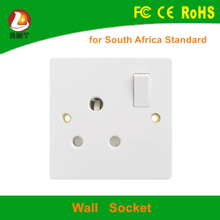 110v 15a electrical wall socket outlet with switch for south africa