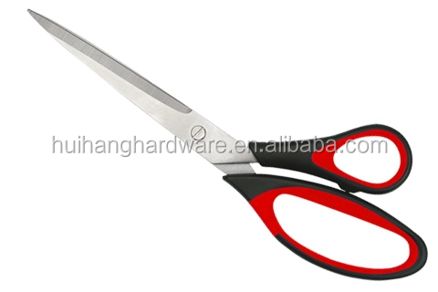 "10"" Stainless steel office scissor household scissors with PP/TPR Handle HR007"