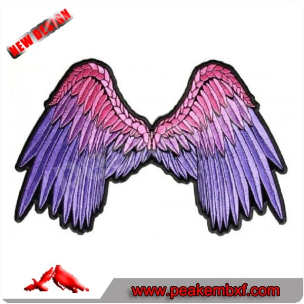 Hot Sale Angel Wings Custom Embroidery Patch For Clothing