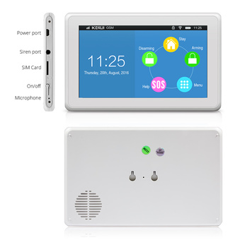 Kerui Kr K7 Touch Screen Touch Pad Wireless Home Security Gsm Wifi Alarm System Diy Kit Buy Touch Alarm System Wifi Alarm System Gsm Alarm System