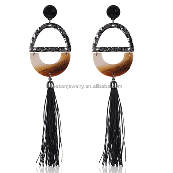 Simple Acrylic Tassel Drop Earring Dropshipping Service Wholesale Custom  Earring Bohemian Style Earring Jewelry For Women 3 - Buy Simple