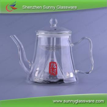 Borosilicate Gl Tea Pot Kettle With Funnel Infuser Ion Sheet Induction Cooker Safe