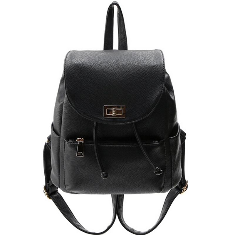 girls school backpack for teenagers women pu leather backpack casual vintage style women backpacks women bags bp0904b