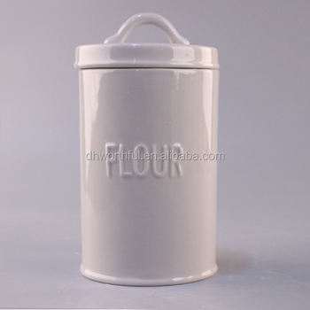 Plain White Ceramic Cookie Jar