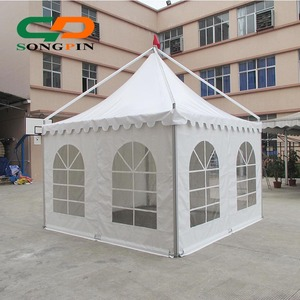 aluminum gazebo tent 5x5m in white PVC fabric and aluminum frame