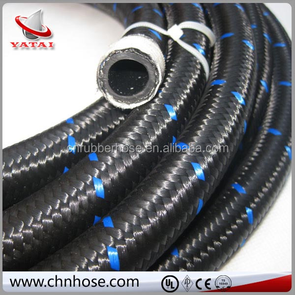 6AN nylon/stainless steel fuel/oil line cover braided hose AN6 6-AN oil hose