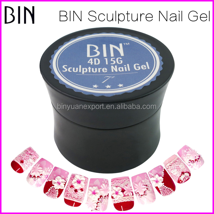 2017 BIN Hot Selling 15ML Sculpture Nail Painting 4D Gel