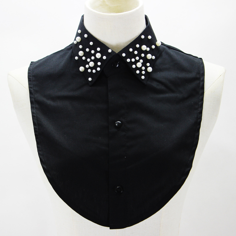 New Detachable Blouse Half Shirts Elegant Fashion Women Faux Collar with Pearls